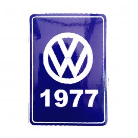 Calcomanía Azul Decorativa VW Generación 1977
