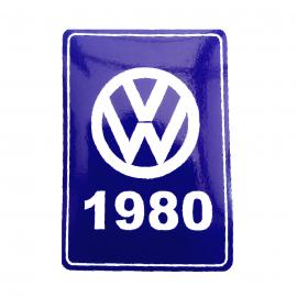 Calcomanía Azul Decorativa VW Generación 1980