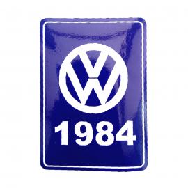 Calcomanía VW Generación 1984 Color Azul para VW Sedan 1600, Combi, Safari, Brasilia, Atlantic, Caribe, Corsar