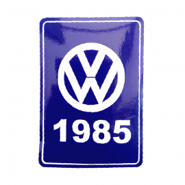Calcomanía VW Generación 1985 Color Azul para VW Sedan 1600, Combi, Safari, Brasilia, Atlantic, Caribe, Corsar