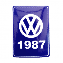 Calcomanía VW Generación 1987 Color Azul para VW Sedan 1600, Combi, Atlantic, Corsar, Caribe