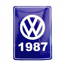 Calcomanía Azul Decorativa VW Generación 1987