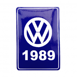 Calcomanía VW Generación 1989 Color Azul para VW Sedan 1600, Combi, Golf A2, Jetta A2