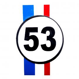 Calcomanía Externa de Vinyl con Emblema Herbie 53 para VW Sedan