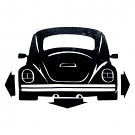 Calcomanía Externa Negra de Vinil Vocho Trasero para VW Sedan