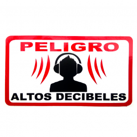 Calcomanía Externa de Vinyl Altos Decibeles