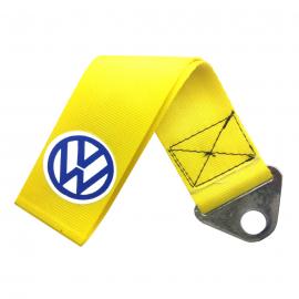 Jalón de Arrastre Universal Color Amarillo y Logo Volkswagen