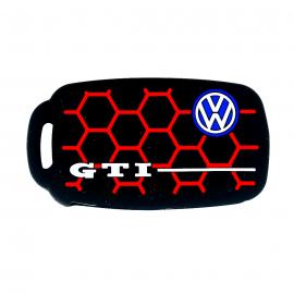 Funda de Silicón Negra de Llave Retráctil Inteligente Edición GTI Panal para Vehículos Volkswagen, Seat y Audi.