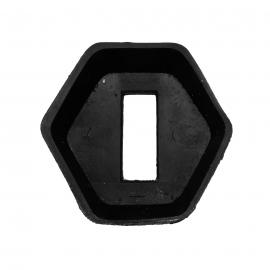 Hule de Empaque Hexagonal de Tirante de Puerta para VW Sedan 1500, 1600, 1600i
