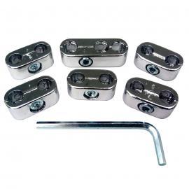 Juego de Peines Separadores de Cables de Bujía Cromados Empi para VW Sedan, Combi 1600, Brasilia, Safari