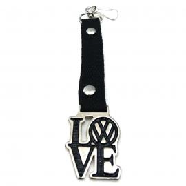 Llavero con Cinta Color Negro y Emblema Volks LOVE