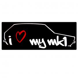 Calcomanía Externa de Vinyl i love my mk1