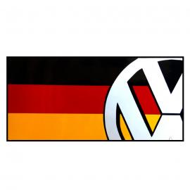 Calcomanía Externa de Vinyl con Bandera German Volks