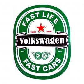 Calcomanía Externa de Vinil con Logo Cerveza Volkswagen