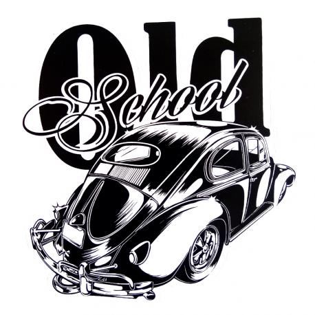 Calcomanía Externa de Vinyl OLD SCHOOL