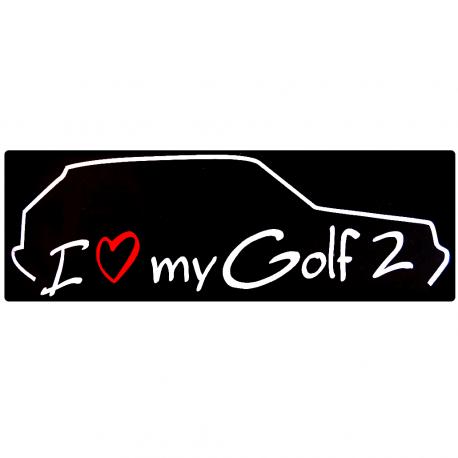 Calcomanía Externa de Vinyl i love my Golf A2