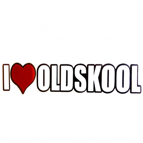 Calcomanía Externa de Vinyl I LOVE OLDSCHOOL