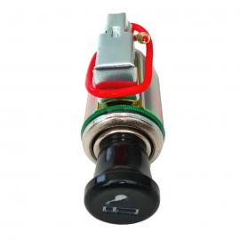 Encendedor Universal con Base y Arillo Luminoso Color Verde Tunix