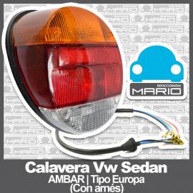 Calavera para VW Sedan 1600, 1600i Tipo Europa (Con Arnés)