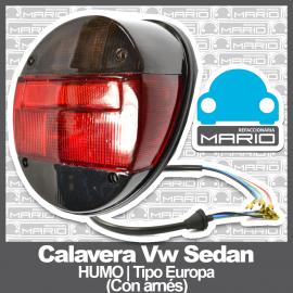 Calavera para VW Sedan 1600, 1600i Ahumada Tipo Europa (Con Arnés)