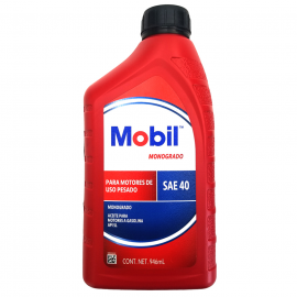 Aceite de Motor Monogrado Mineral SAE 40 Mobil
