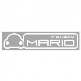 Calcomanía Externa de Vinyl Refaccionaria MARIO