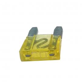 Fusible WURTH Tipo Clavija MINI Color Amarillo de 20 Amperes
