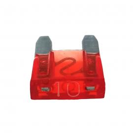 Fusible WURTH Tipo Clavija MINI Color Rojo de 10 Amperes