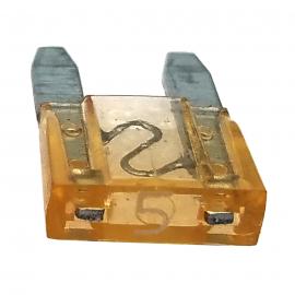 Fusible Tipo Clavija Mini Color Amarillo de 5 Amperes Würth
