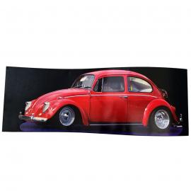 Cuadro Decorativo con Imagen de VW Sedan Color Rojo Tamaño Grande