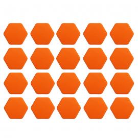 Juego de Capuchones Hexagonales de Silicón Color Naranja para Birlos y Tuercas de Rin