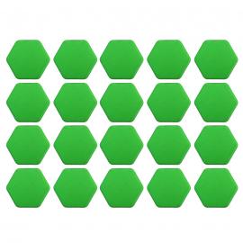 Juego de Capuchones Hexagonales de Silicón Color Verde para Birlos y Tuercas de Rin