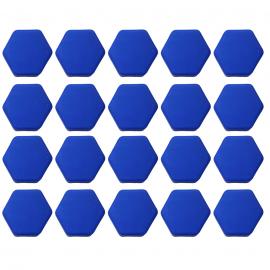 Juego de Capuchones Hexagonales de Silicón Color Azul para Birlos y Tuercas de Rin