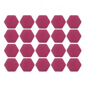Juego de capuchones hexagonales de silicón color Rosa para birlos y tuercas de rin.