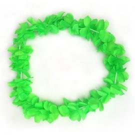Collar de Flores Color Verde Estilo Hawaii