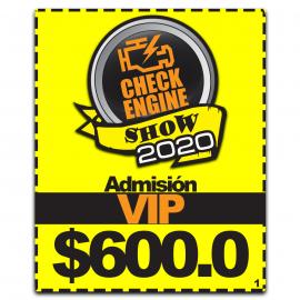 Admisión VIP CHECK ENGINE 2020