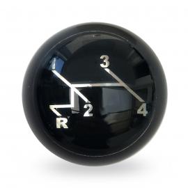 Perilla de Palanca de Velocidades Bola Negra con Diagrama de Velocidades