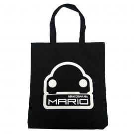 Bolsa Negra de Tela NonWoven Ecológica con Logo Refaccionaria Mario
