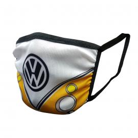 Cubrebocas VW Combi Amarillo