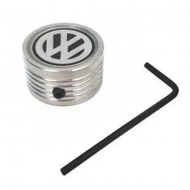 Perilla de Guantera de Combi Cromada con Logo VW Negro