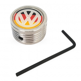 Perilla de Guantera de Combi Cromada con Logo VW Alemania