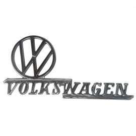 Letrero y Logo con Leyenda de Volks Wagen Cromado