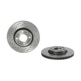 Disco de Freno Hiperventilado UV Coated Delantero Brembo para Note, March, Versa, Micra, Clio