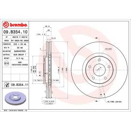 Disco de Frenos Delanteros Hiper Ventilado con Laca UV Brembo para Sentra B16, XTrail 2.5L