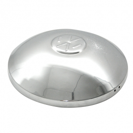 Tapón Cromado de Rin con Emblema Volkswagen Tipo Bola para VW Sedán, Safari, Brasilia, Combi