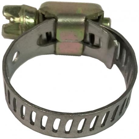 Abrazadera metálica sinfín fijadora de mangueras y ductos para V.W. Sedan 1600i