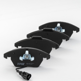 Juego de Balatas Delanteras con Sensor Low Metal TRW para Jetta A6 2.5L, Bora 2.5L, Altea