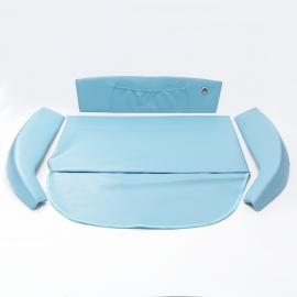 Kit de Vestiduras de Cofre Color Azul Claro para VW Sedán 1600, 1600i