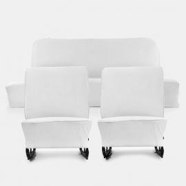 Juego de Asientos Color Blanco sin Cabeceras Restaurados Originales para VW Sedan 1200, 1500