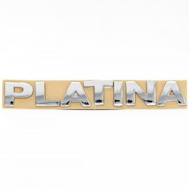 Letrero de Cajuela Color Plata para Platina